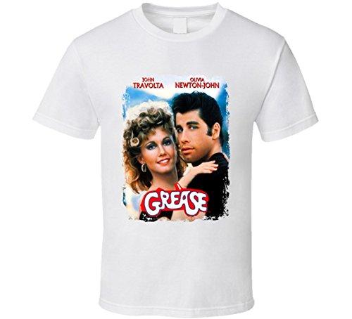 White Bro T-shirt (Grease Great 70s Movie T shirt M White)