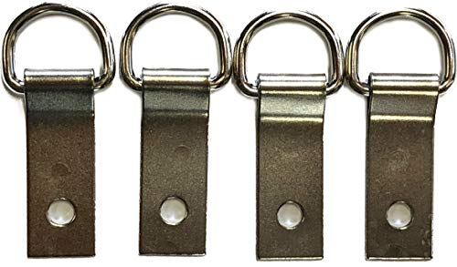 Outfitters Supply Multi-Pack of Saddle Concho Clips with Dee Rings, 5/8
