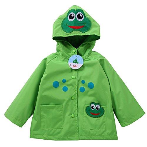 LZH Baby Girls Boys Waterproof Raincoat Windbreaker Hooded Bomber Jacket