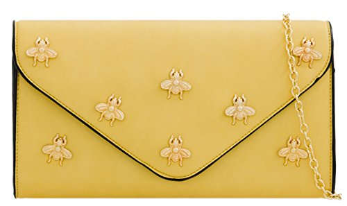 HandBags Bag Bag Girly Yellow HandBags Clutch Girly Clutch Flies Flies T7qAXU48