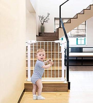 L.TSA Puerta de Seguridad para bebés y niños Valla para escaleras para bebés Valla para Mascotas Valla para Perros Varilla Puerta de Aislamiento: Amazon.es: Deportes y aire libre