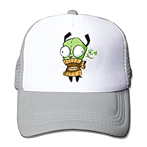 ZMvise Unisex Hi Happy Fun Invader Zim Zombie Green Monster Cute Cap Trucker Mesh Hat