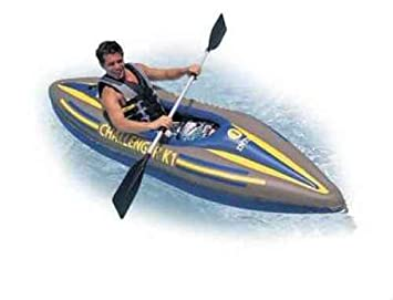 rames Intex K1 Challenger Cano/ë kayak gonflable 1 place