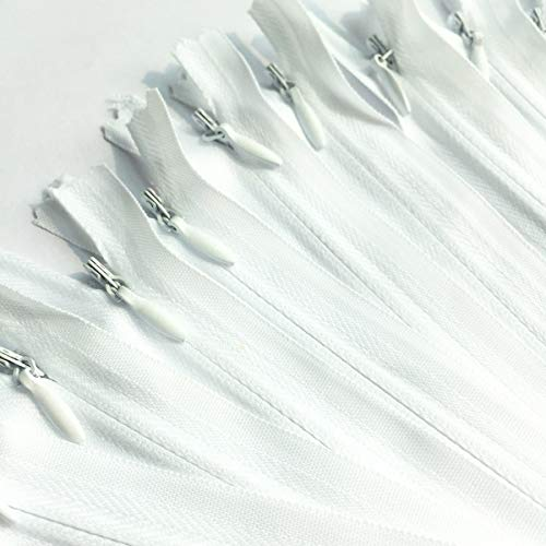 25pcs Nylon Invisible Zippers for Dresses, Skirts, Pillows,