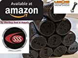 Medium-Strength Threaded Rod, Grade B7 Black-Oxide Coated Alloy Steel,1/2''-13 Thread Size, 6-3/4'' Long (Qty 100 rods)