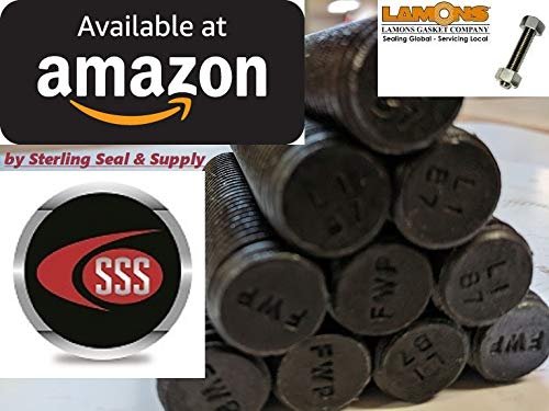 "Medium-Strength Threaded Rod, Grade B7 Black-Oxide Coated Alloy Steel,1/2""-13 Thread Size, 5-1/4"" Long (Qty 50 rods)"