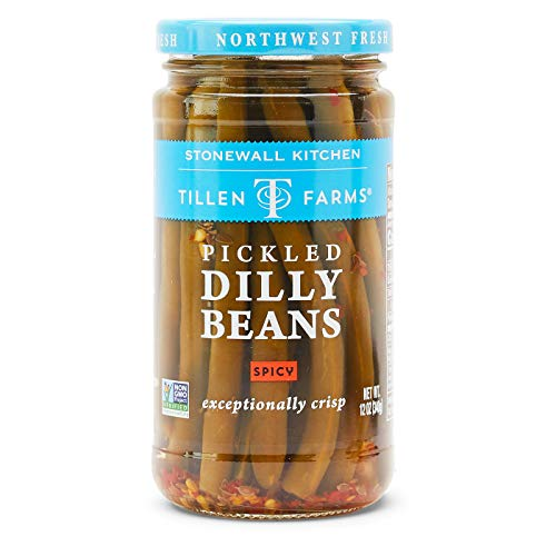 - Tillen Farms Pickled Hot and Spicy Dilly Beans, 12 ounces