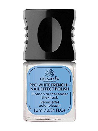 Alessandro Pro White French - Nail Effect Polish 1 x 10 ml Optisch aufhellender Effektlack