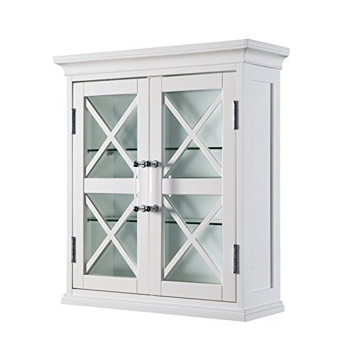 Elegant Home Fashions Blue Ridge 2 Door Wall Cabinet in White delicate