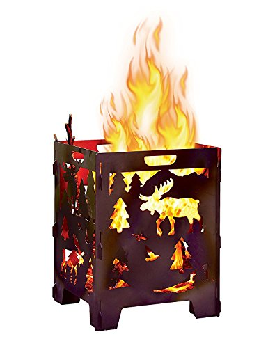 Circle Barrel - Moose Wood Burning Pit, Burn Cage, Incinerator Barrel, Great for Patio and Outdoor Backyard Bonfire Heavy Duty Large 21 x 21 x 27 inch