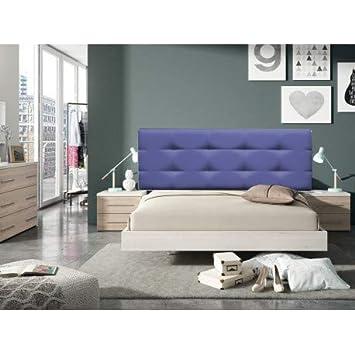 Decorquality Cabecero Cama tapizado Polipiel Mod. Texas Big con un diseño Moderno y Elegante (Azul, 90 * 70): Amazon.es: Hogar