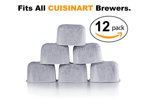 12-Pack of Cuisinart Compatible Replacement K&J Charcoal Water Filters for Coffee Makers - Fits all Cuisinart Coffee Makers