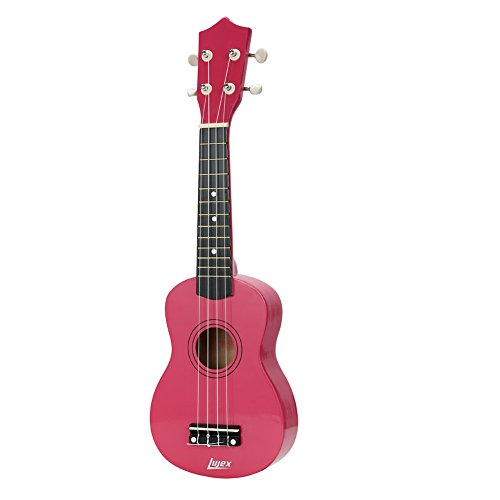 Lujex Best Soprano Ukulele Great Fun for Adult Beginners and Children Love Ukuleles (Rosy)