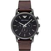 Emporio Armani Men's AR1919 Dress Brown Leather Watch