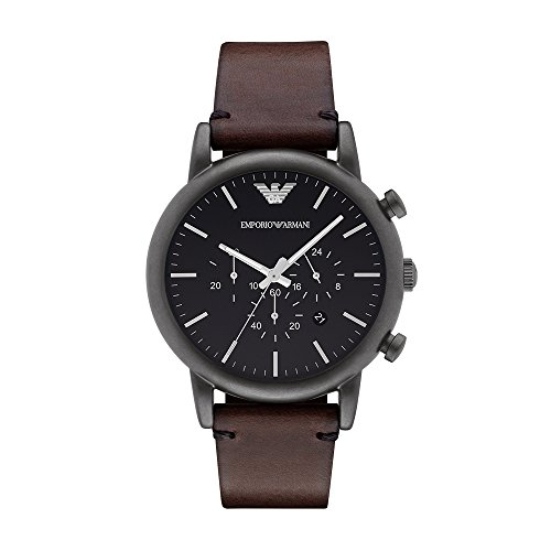 Emporio Armani Men's AR1919 Dress Brown Leather Watch ()