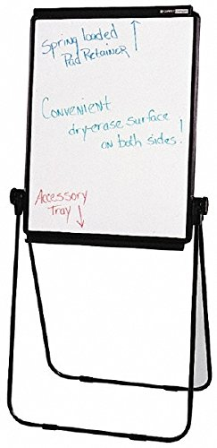 Quartet Ultima Presentation Easel, 27 x 34, White Surface/Black Frame (101EL)