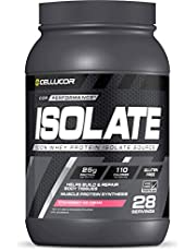 Cellucor 100% Isolate Whey Protein Powder, Post Workout Recovery Drink, Gluten Free, Low Carb, Low Fat Protein Powder Supplements, For Recovery, Strawberry Ice Cream, 28 Servings