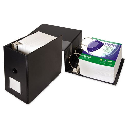 """Samsill 16320 Clean Touch Locking D-Ring Reference Binder, Antimicrobial, 6"""" Cap, Black"""