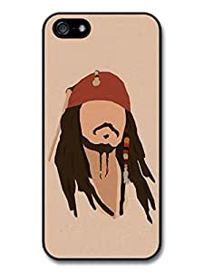 Jack Sparrow Johnny Depp Pirate Minimalist Illustration case for iPhone 5 5S A8289