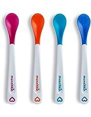 Munchkin White Hot Infant Safety Spoons, Orange/Pink/Green/Blue