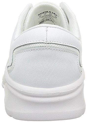 Supra Noiz, Unisex-Erwachsene Sneakers Weiß (white/white)