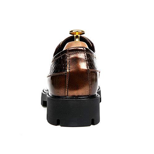 Oxford Pelle Verniciata da Suola Moda Lavoro Scarpe in con Casual da in Poliuretano in Gold Scarpe Coccodrillo Cricket OCwn1qZtW