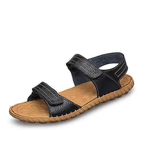 Noir 43 EU Sandales à la mode, pantoufles tout-aller Chaussures Sandales mode pour hommes Décontracté Simple Léger Pratique Crochet et boucle Chaussures de plein air Chaussures de personnalité, sandales unisexes