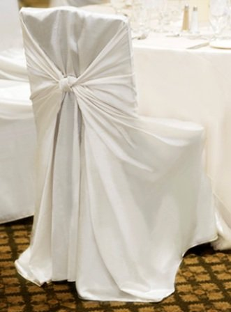 SPRINGROSE 50 White Satin Universal Chair Covers All in One Weddings