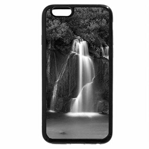 iPhone 6S Case, iPhone 6 Case (Black & White) - Hraunfossar Waterfalls