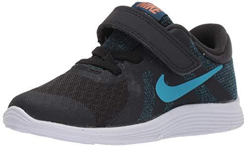 Nike Boys Revolution 4 (TDV) Sneaker, Off Noir/Light Current Blue Force, 2C Toddler US Toddler (Nike Revolution 2 Toddler Boys)