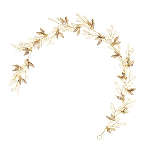 Homyl Shiny Leaf Rhinestone Hair Vine Headpiece Girls Woman Fancy Dress (Fancy Vine)