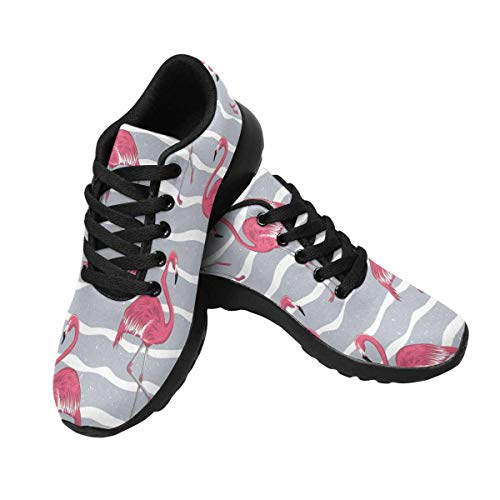 InterestPrint Running Sneakers 10 Women's Outdoors in Shoes Grey Design Flamingo UU6rv5xwq