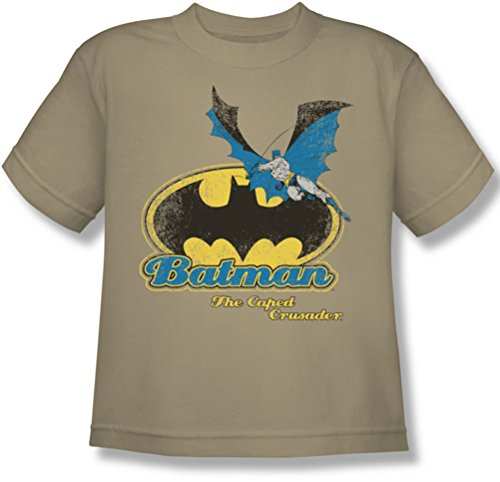 Batman+Retro+Shirts Products : Batman - Caped Crusader Retro Youth T-Shirt In Sand
