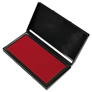 COSCO - Microgel Stamp Pad for 2000 PLUS, 3 1/8 x 6 1/6, Red - Sold As 1 Each - Premium microgel stamp pad.