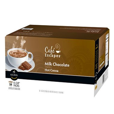 Café Escapes Hot Cocoa, Milk Chocolate, K-Cup Portion Pack for Keurig Brewers, 24-Count (Pack of 2)