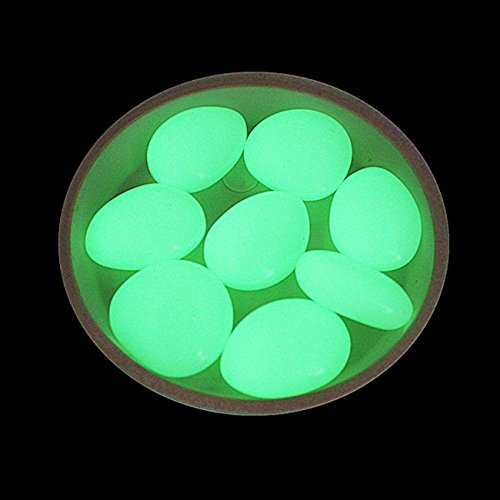 Large Glow in the Dark Fish Tank Cobble Stones ~ Glowing Rocks ~ Aquariums - Gardens (Green)