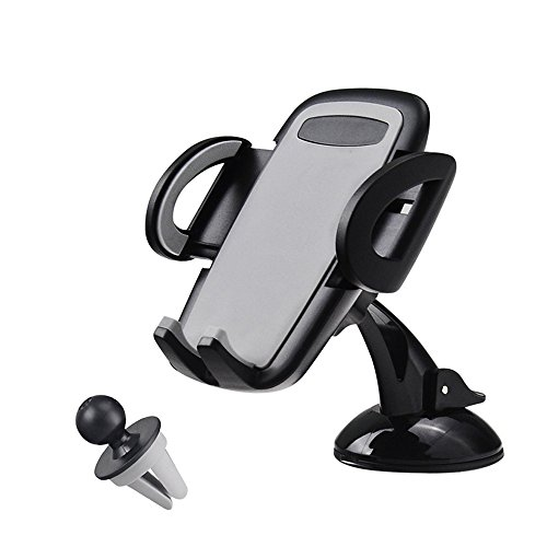 Universal Cell Phone Car mount Air Vent Mount Holder Center Stack phone holder Cradle 360°Rotation for iphone X 8 8 Plus 7 7 Plus SE 6s 6 Plus Sumsung S9 plus S8 note 8 S7 Edge S6 LG Nokia Smartphone