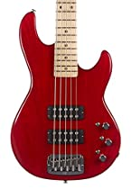 G&L USA L-2500 5 String Bass w/ K-Wiring, Clear Red, Maple