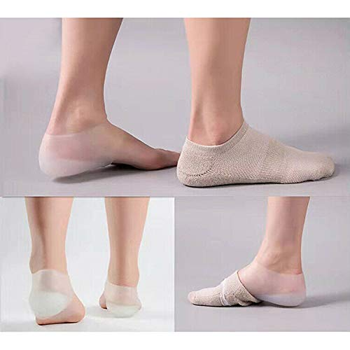 Drawoz Invisible Height Lift Heel Pad Sock Liners Increase Insole Pain Relieve 3cm for Women Men