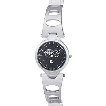 Le Temps des Cerises Damen-Armbanduhr Analog Quarz Edelstahl TC39BKM