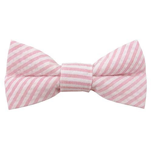 (Jacob Alexander Men's Seersucker Self-Tie Bow Tie - Pink)