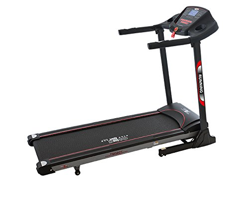 Christopeit TM 500S 400 x 1300 mm 15 km h Treadmill – Laufband (130 kg, 2 km h, 15 km h, verbrannte, Distance, Time, schwarz, Buttons)