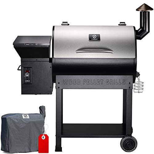 Z GRILLS ZPG-7002E 2020 Upgrade Wood Pellet Grill & Smoker, 8 in 1 BBQ Grill Auto Temperature Controls, inch Cooking…