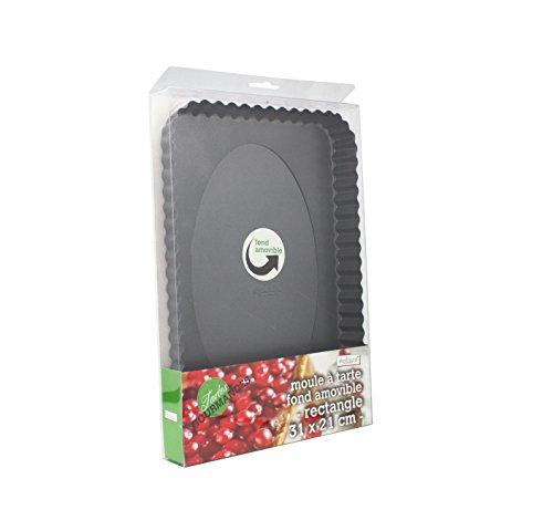 Ard time TG-RECT1 Moule à Tarte Fond Amovible - Forme Rectangulaire 31 x 21  cm  Amazon.fr  Cuisine   Maison a96f3c26e86c