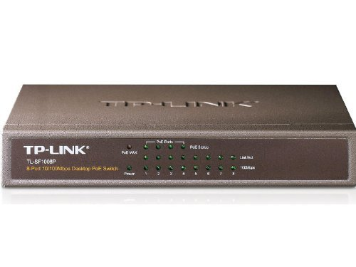 TP-Link 8-Port Fast Ethernet Unmanaged PoE Switch with 57W 4-PoE Ports | 802.3af | Plug and Play | Desktop| Metal | Limited Lifetime (TL-SF1008P) (Using Poe Switch With Non Poe Devices)