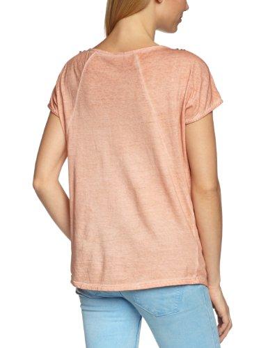 Vero Moda - Camiseta con cuello redondo de manga corta para mujer Rosa (Rose Mahogany)