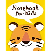 """Notebook for Kids: Cute Tiger Notebook Journal Diary, 108 Lined pages, 8.5"""" x 11"""" Notebook Lined"""