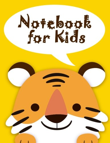 Notebook for Kids: Cute Tiger Notebook Journal Diary, 108 Lined pages, 8.5