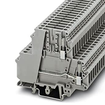 DIN Rail Terminal Blocks 6 2mm DBL LEVEL BASE: Amazon com