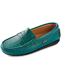 Grilss Slip On Mocassin Penny Loafer Flat Shoe Red